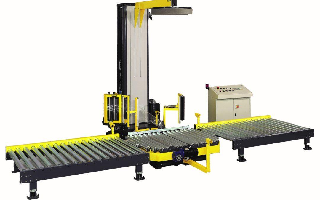 WS46 helautomatisk sträckfilmsmaskin med roterande pallbord