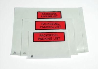 Packsedelskuvert utan tryck